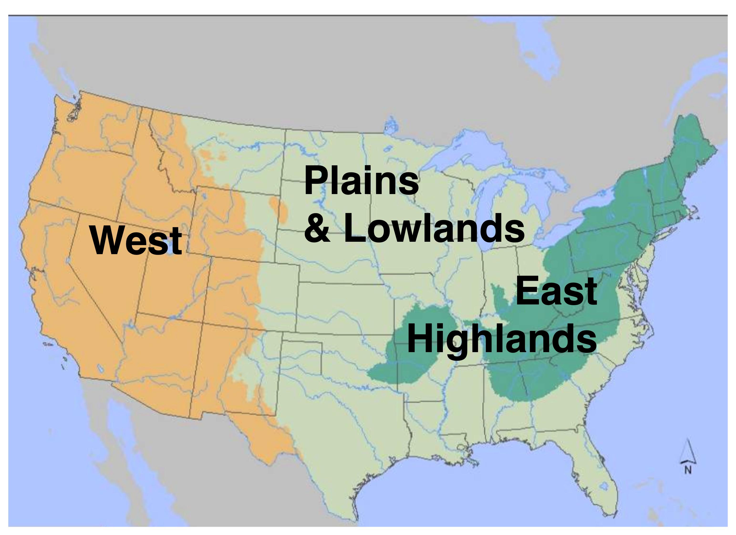 Three Regions