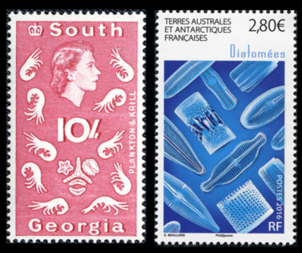Fig 1 Oldest 1963 Newest 2016 Diatom Stamps