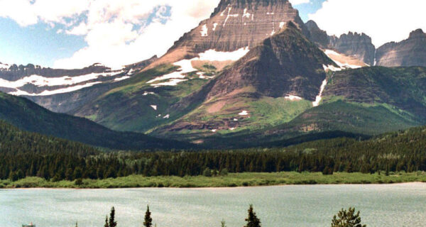 Swiftcurrent  Lake And  Valley