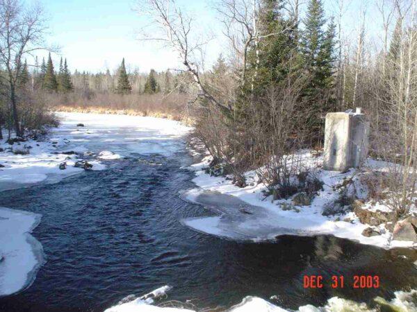 Popple River Near Fence